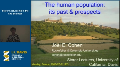 Thumbnail for entry Storer Lecture - Joel Cohen 5-28-14