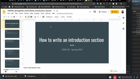 Thumbnail for entry ESM195_Spring2020_WritingAnIntroduction