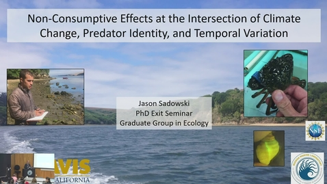 Thumbnail for entry BML - Jason Sadowski: Non-Consumptive Effects at the Intersection of Climate Chance, Predator Identity, and Temporal Variation