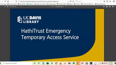 Thumbnail for entry HathiTrust Emergency Access Tutorial