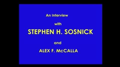 Thumbnail for entry Stephen Sosnick