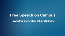 Thumbnail for entry Free Speech on Campus