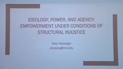 Thumbnail for entry 2019 Sheffrin Lecture - Sally Haslanger - May 23, 2019
