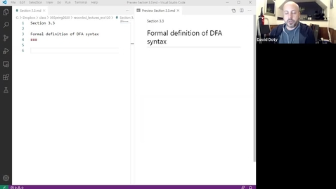 Thumbnail for entry ECS 120 1b:3 formal definition of DFA syntax