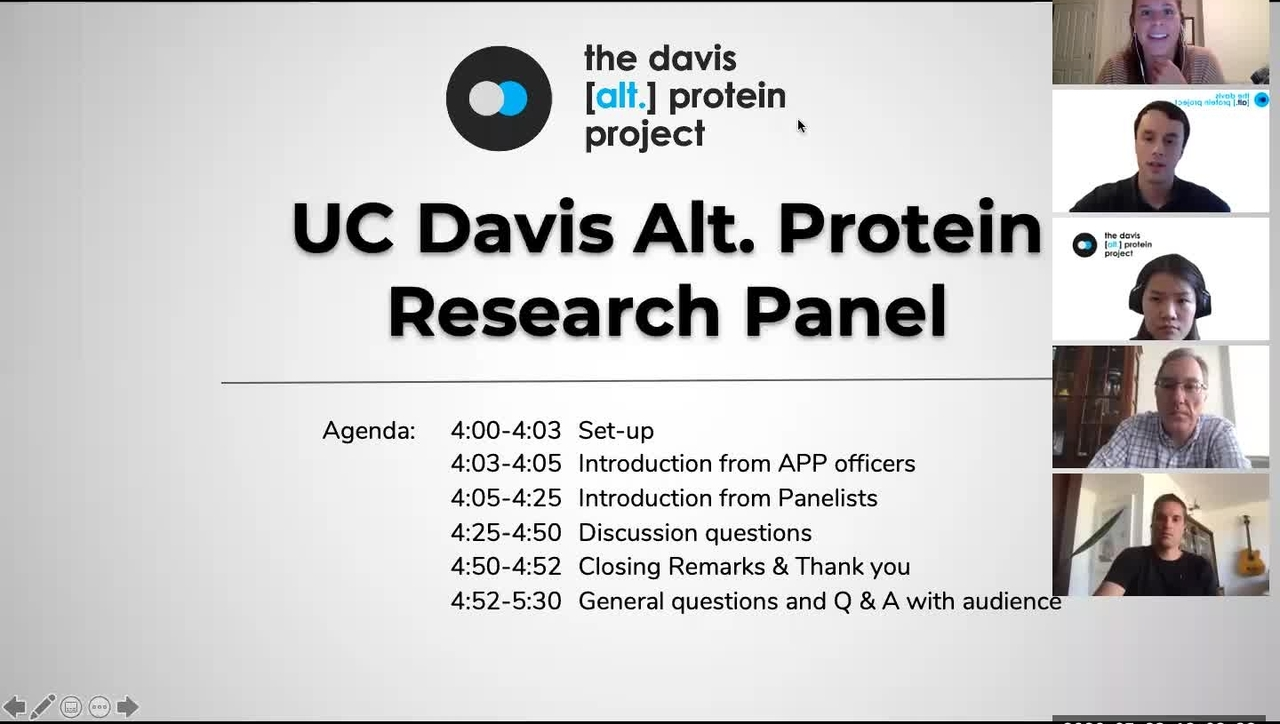 UC Davis Alt Protein Project - Research Panel 05/28/2020