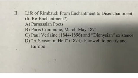 Thumbnail for entry His 147B: Rimbaud, Part 2
