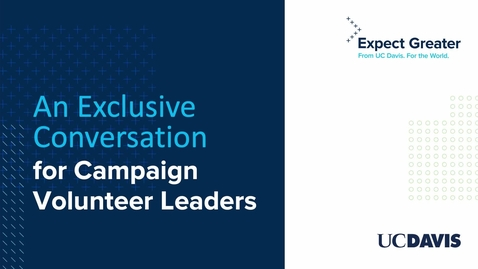 Thumbnail for entry An Exclusive Conversation for Campaign Volunteers