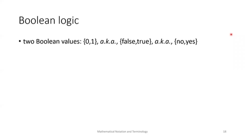 Thumbnail for entry ECS 120 0:5 Boolean logic (discrete math review)