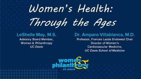 Thumbnail for entry Women & Philanthropy Speaker Series Event  -  Women's Health: Through the Ages