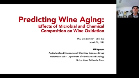 Thumbnail for entry VEN290 - Predicting wine aging: effects of microbial and chemical composition on wine oxidation