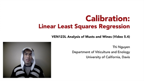 Thumbnail for entry VEN123L Video 5.4 - Calibration - Linear Least Squares Regression