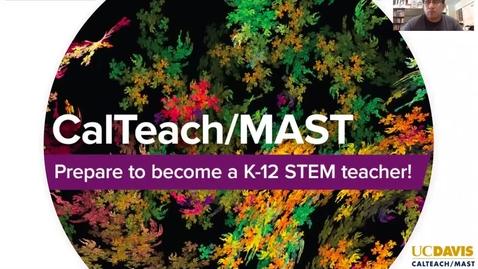 Thumbnail for entry CalTeach/MAST program - Davisfest