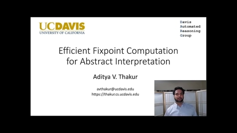 Thumbnail for entry Efficient Fixpoint Computation for Abstract Interpretation