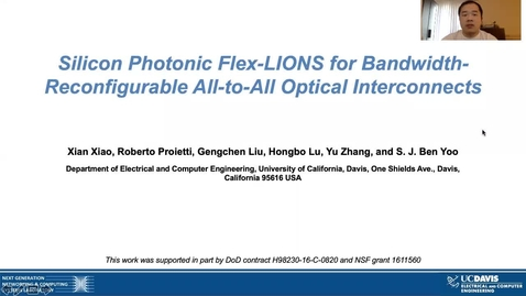 Thumbnail for entry Silicon Photonic Flex-LIONS for Bandwidth-Reconfigurable All-to-All Optical Interconnects