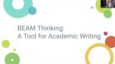 Thumbnail for entry BEAM: A Tool for Academic Writing