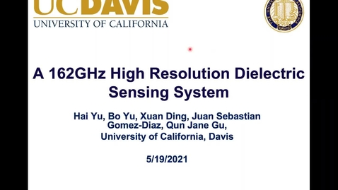 Thumbnail for entry A 162 GHz High Resolution Dielectric Sensing System Based on Ring Resonator Sensor