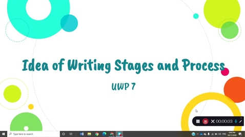 Thumbnail for entry Idea of Writing Stages and Processes
