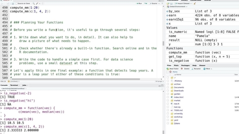 Thumbnail for entry R Basics:  Introduction to Programming for Researchers (4-part series) Part 3 of 4 – 2021-05-25