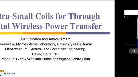 Thumbnail for entry Ultra-Small Coils for Through Metal Wireless Power Transfer
