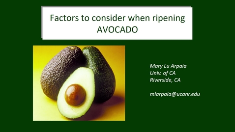 Thumbnail for entry Ripening Avocados - (Arpaia)