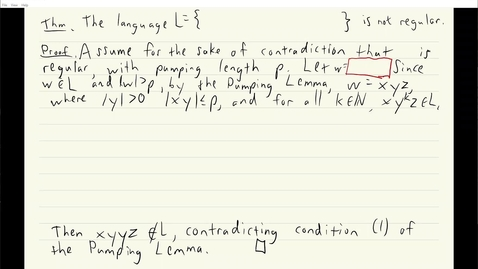 Thumbnail for entry ECS 120 5b:3 example of incorrect use of pumping lemma