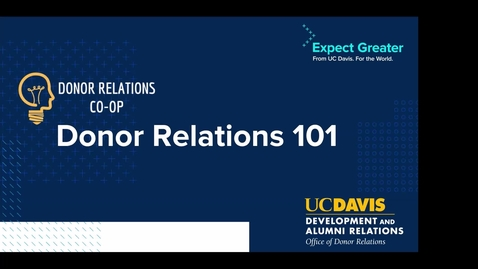 Thumbnail for entry Donor Relations 101