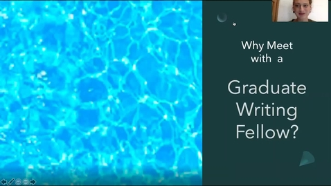Thumbnail for entry Graduate Writing Fellow Consultations: How We Can Help