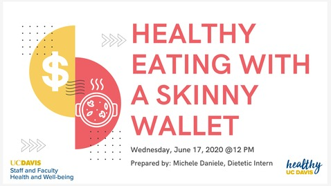 Thumbnail for entry Healthy Eating With A Skinny Wallet