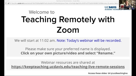 Thumbnail for entry ATS Webinar: Teaching Remotely with Zoom - 23 September 2020
