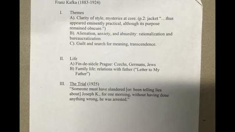 Thumbnail for entry His 147B: Kafka, Part 1