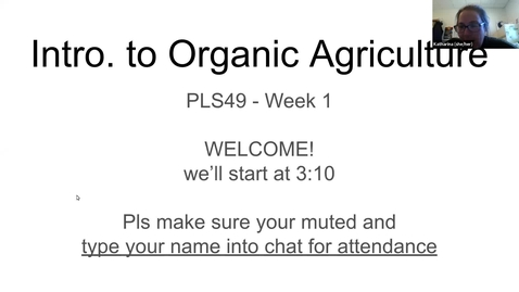 Thumbnail for entry PLS49: Wk 1 What is organic ag?
