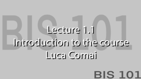 Thumbnail for entry Lec1.1.0. Welcome and introduction