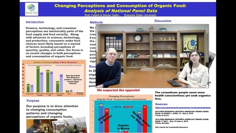 Thumbnail for entry UFWH 2021 - Rob Catlett _Bekah Selby_Changing Perceptions and Consumption of Organic Food_ Analysis of National Panel Data