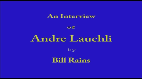 Thumbnail for entry Andre Lauchli