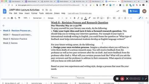 Thumbnail for entry Week 8 Mini-Lecture - Research Responses and Literacy Case Study Notes