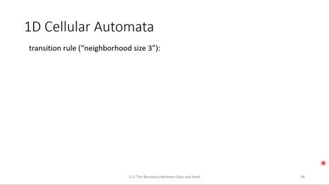 Thumbnail for entry ECS 220 3c:5.5-1 cellular automata (CA)