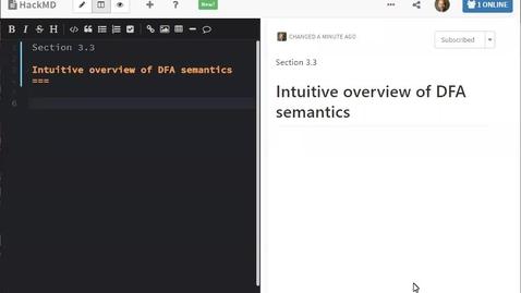 Thumbnail for entry ECS 120 1b:4 intuitive overview of DFA semantics