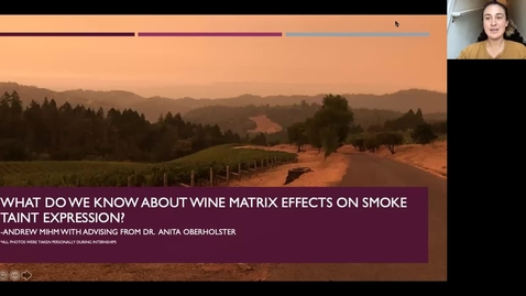 Thumbnail for entry VEN290 - Wine matrix effects on smoke taint expression