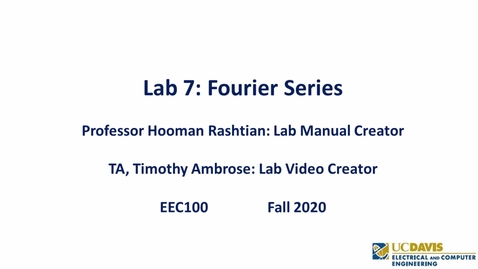 Thumbnail for entry EEC 100 Lab 07 - Fourier Series