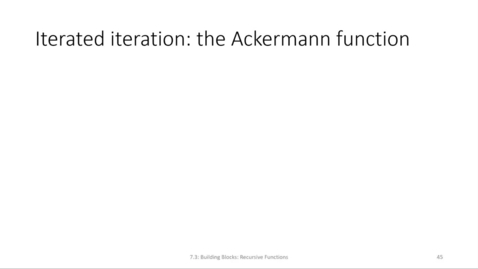 Thumbnail for entry ECS 220 7b:7.3-2 Ackermann function