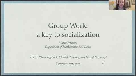Thumbnail for entry SITT 2021 - Group Work as a key to socialization