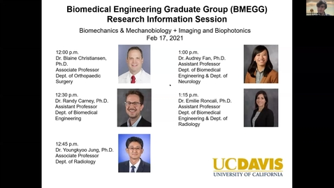 Thumbnail for entry BMEGG Biomechanics & Mechanobiology + Biomedical Imaging & Biophotonics Information Session