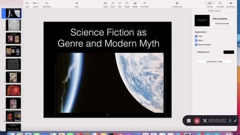 "Thumbnail for entry His 147A Section 2: Lecture 1, ""What Is Science Fiction?"""