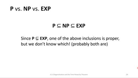 Thumbnail for entry ECS 220 4c:6.3-4 P vs. NP vs. EXP nondeterministic time hierarchy theorem