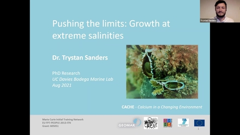 """Thumbnail for entry BML - Dr. Trystan Sanders: """"Pushing the limits: Growth at extreme salinities"""""""