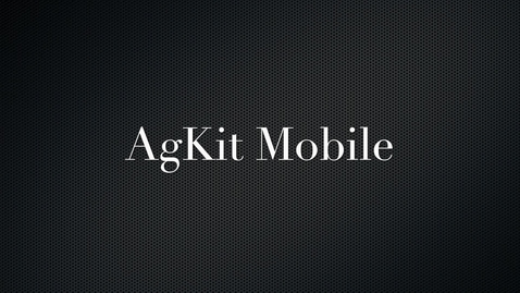 Thumbnail for entry Agkit User Interface