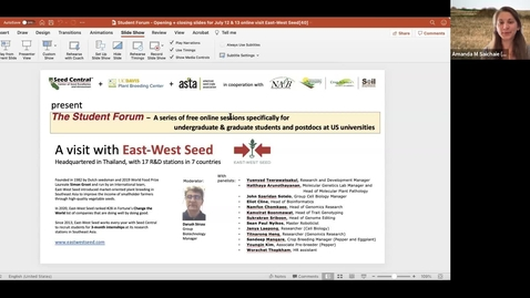 Thumbnail for entry Virtual Visit to East West Seeds