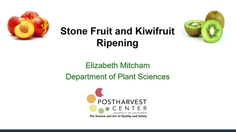 Thumbnail for entry Ripening Stone Fruit and Kiwifruit - (Mitcham)