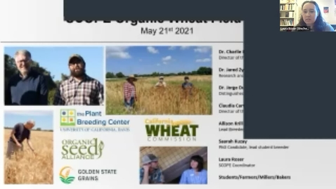 Thumbnail for entry SCOPE Organic Small Grains Field Day