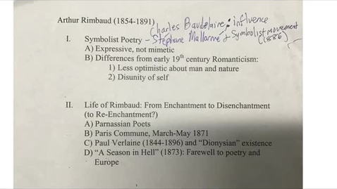 Thumbnail for entry His 147B: Rimbaud, Part 1